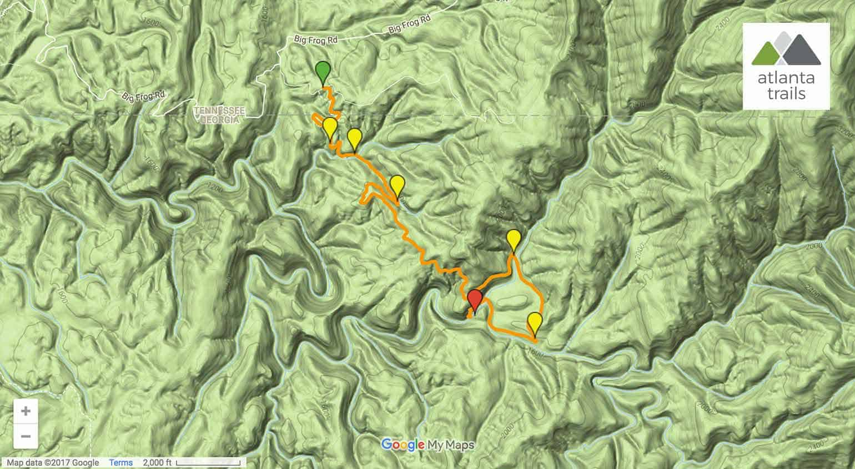 Jacks River Falls On The Beech Bottom Trail - Google maps trails