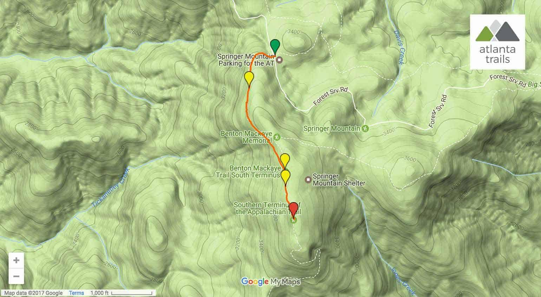 Springer Mountain: hiking the Appalachian Trail