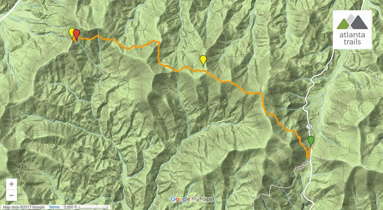 Appalachian Trail Unicoi Gap To Chattahoochee Gap In Ga