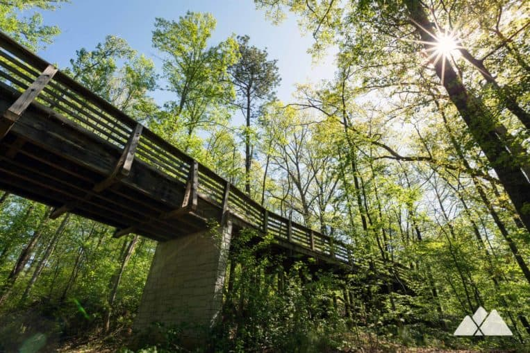 Mason Mill Park: run the South Peachtree Creek Trail on a scenic boardwalk through the treetops