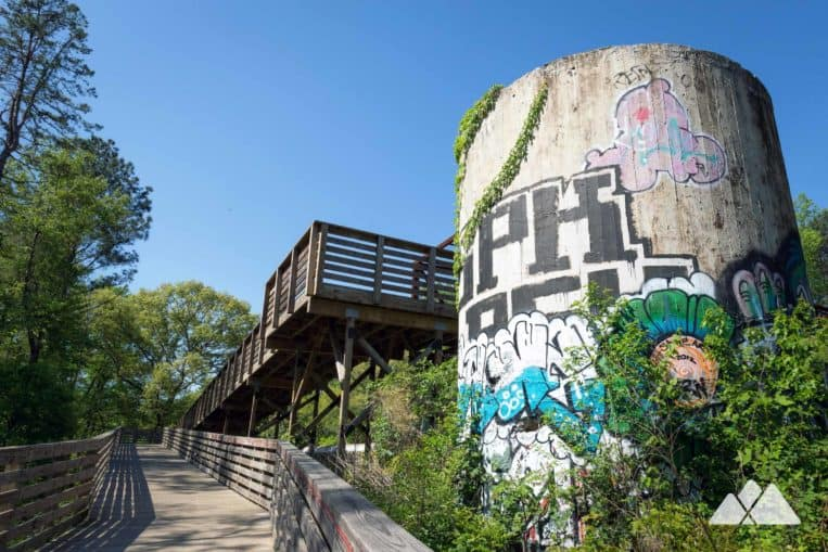 Mason Mill Park: run the South Peachtree Creek Trail to the ruins of the Decatur Waterworks