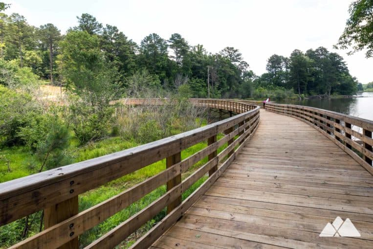 Panola Mountain State Park: running the PATH trail to Alexander Lake in metro Atlanta