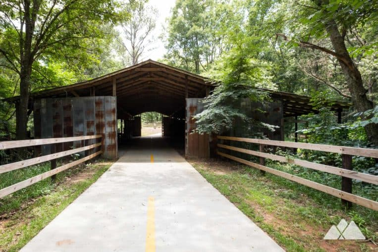Panola Mountain PATH: follow a paved trail on bike or foot around a lake and through a historic barn near Atlanta