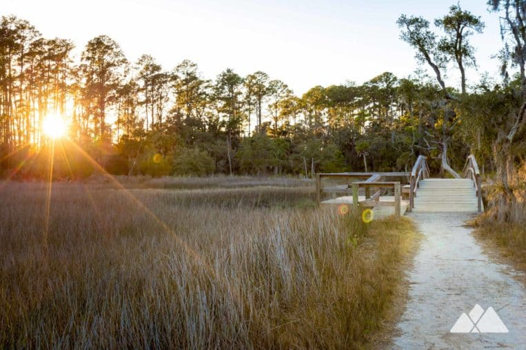 Skidaway Island State Park: hike through scenic salt flats and a Spanish moss-draped forest near Savannah, GA