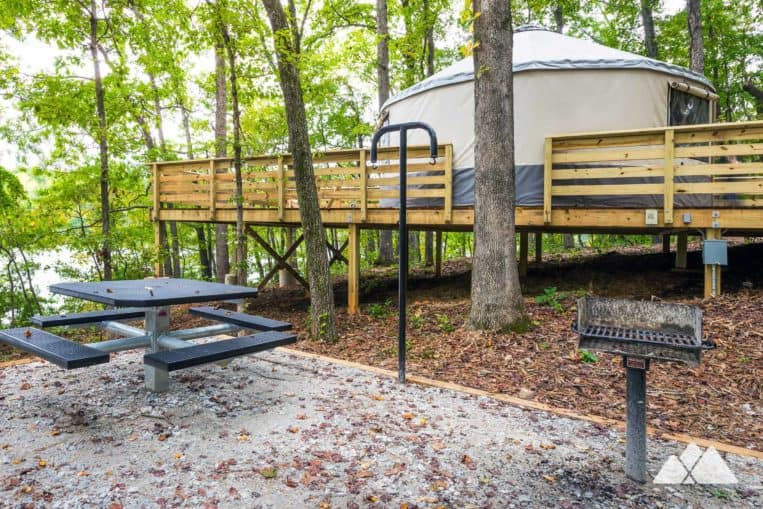 Yurt camping at Sweetwater Creek State Park: top places to camp near Atlanta
