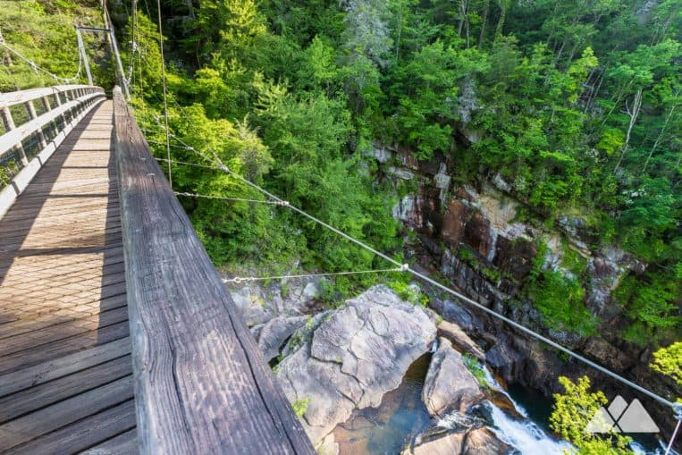 Hike to gorgeous views from a towering suspension bridge at Tallulah Gorge State Park in Georgia