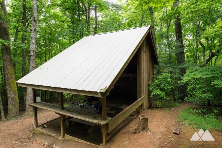 Gooch Mountain Shelter on the Appalachian Trail in North Georgia