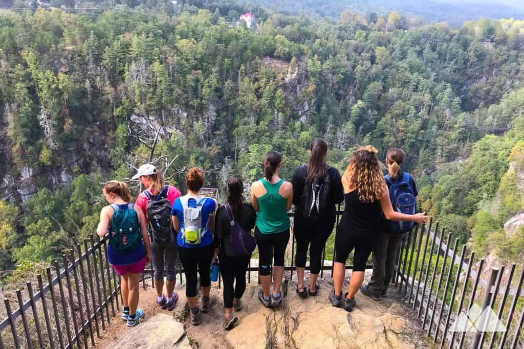 Girls Who Hike Georgia hiking group at Tallulah Gorge State Park