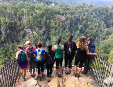 Girls Who Hike Georgia hiking group at Tallulah Gorge State Park
