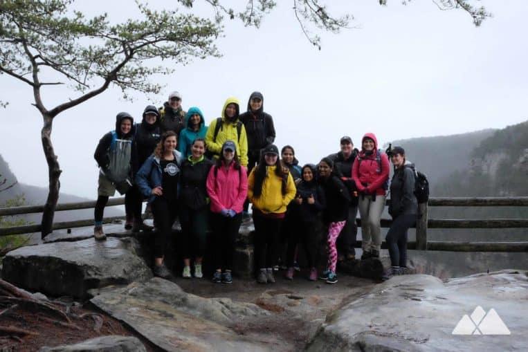 Girls Who Hike Georgia hiking group at Cloudland Canyon State Park
