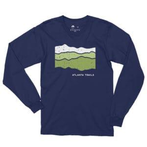 Atlanta Trails Appalachian Long Sleeve Shirt in Navy