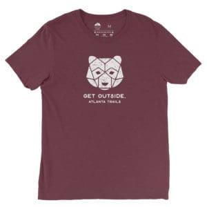 Atlanta Trails Bear Shirt, Maroon