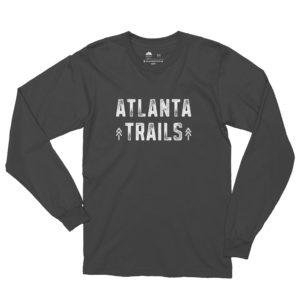 Atlanta Trails Between the Pines Long Sleeve Shirt in Slate