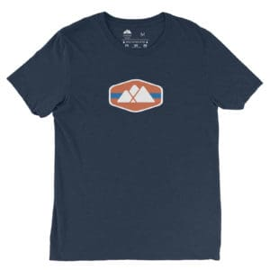 Atlanta Trails Mountain Logo Shirt in Navy