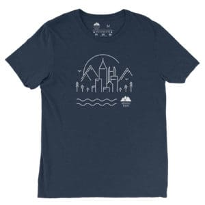Atlanta Trails Skyline Shirt Navy