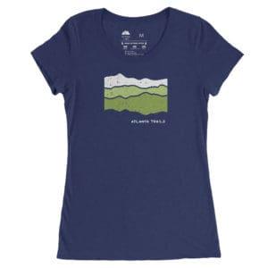 Atlanta Trails Women's Appalachian T Shirt in Navy