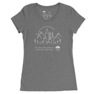 Atlanta Trails Women's Skyline Shirt in Granite