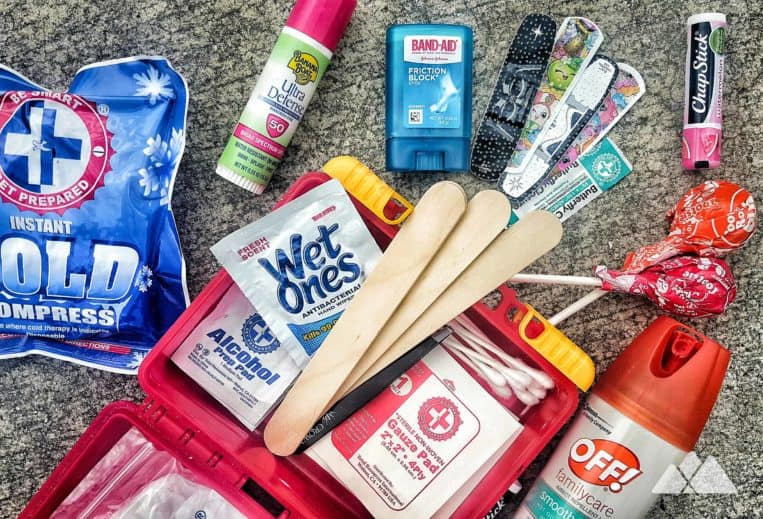 Kids Hiking Gear List: first aid kit