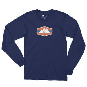Atlanta Trails Mountain Logo Long Sleeve Shirt - Navy