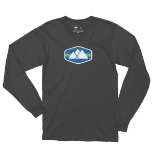 Atlanta Trails Mountain Logo Long Sleeve Shirt - Slate