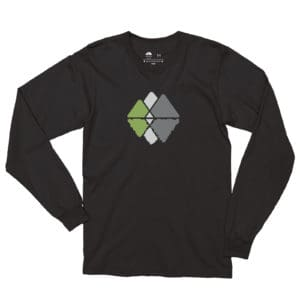 Atlanta Trails Mountain Reflections Long Sleeve Shirt - Black