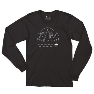 Atlanta Trails Skyline Long Sleeve Shirt - Black