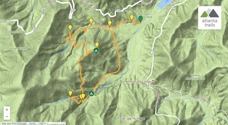Bear Hair Gap Trail Map