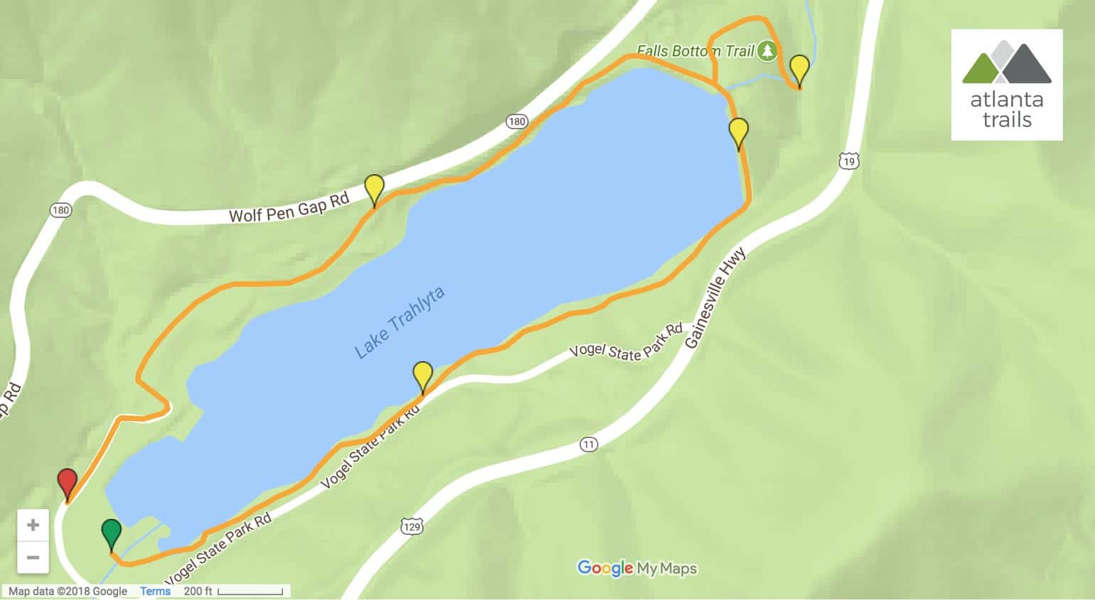 Trahlyta Lake Trail Map