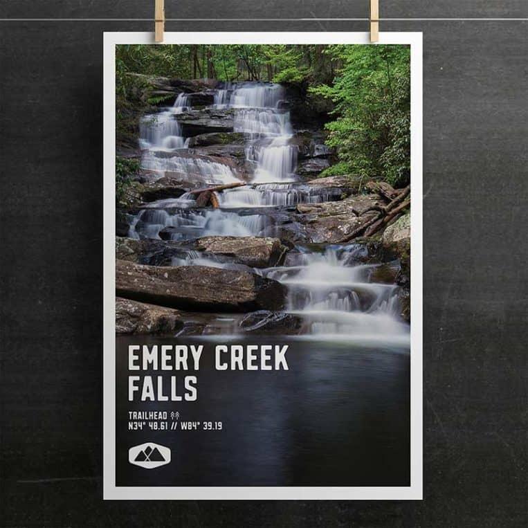 Atlanta Trails Emery Creek Falls Poster
