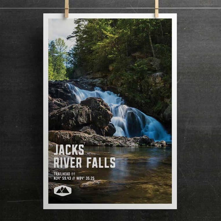 Atlanta Trails Jacks River Falls Poster