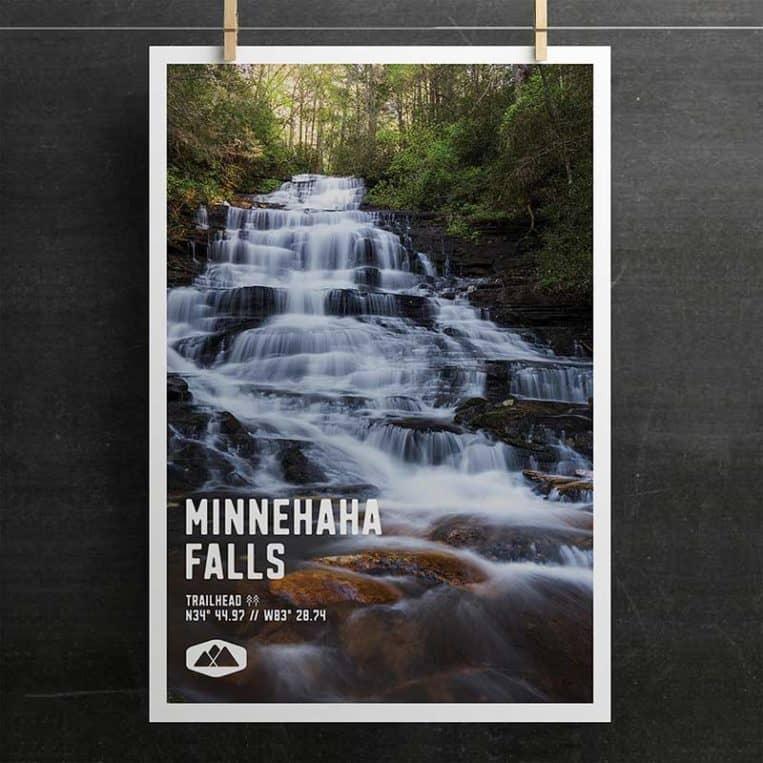 Atlanta Trails Minnehaha Falls Poster