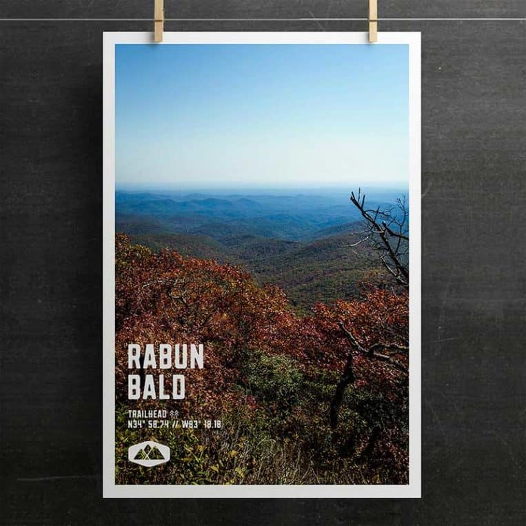 Atlanta Trails Rabun Bald Poster