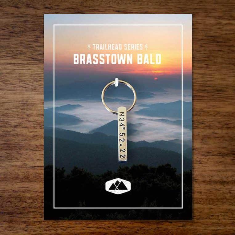 Brasstown Bald Keychain