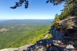 Yonah Mountain hiking trail in North Georgia