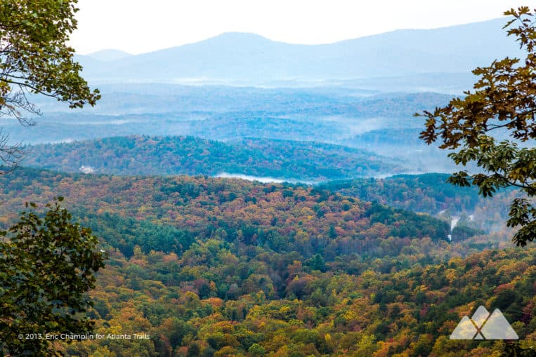 Amicalola Falls Trail: hike to beautiful mountain views from the crest of Georgia's tallest waterfall