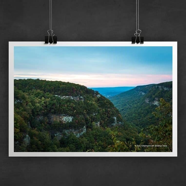Atlanta Trails Cloudland Canyon Sunset Photo Art Print
