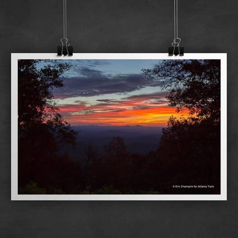 Atlanta Trails Hike Inn Sunrise Photo Art Print