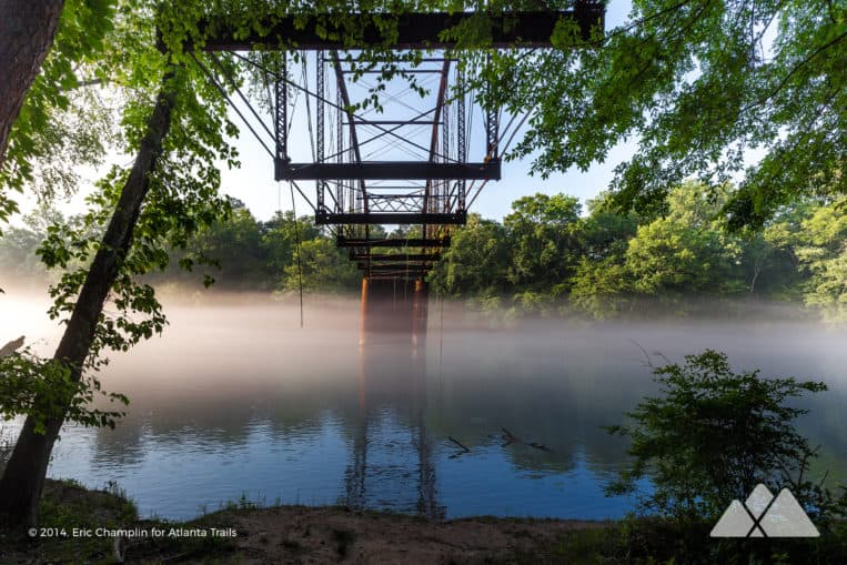 Jones Bridge Park: hike to a historic bridge and stunning early morning fog on the Chattahoochee River