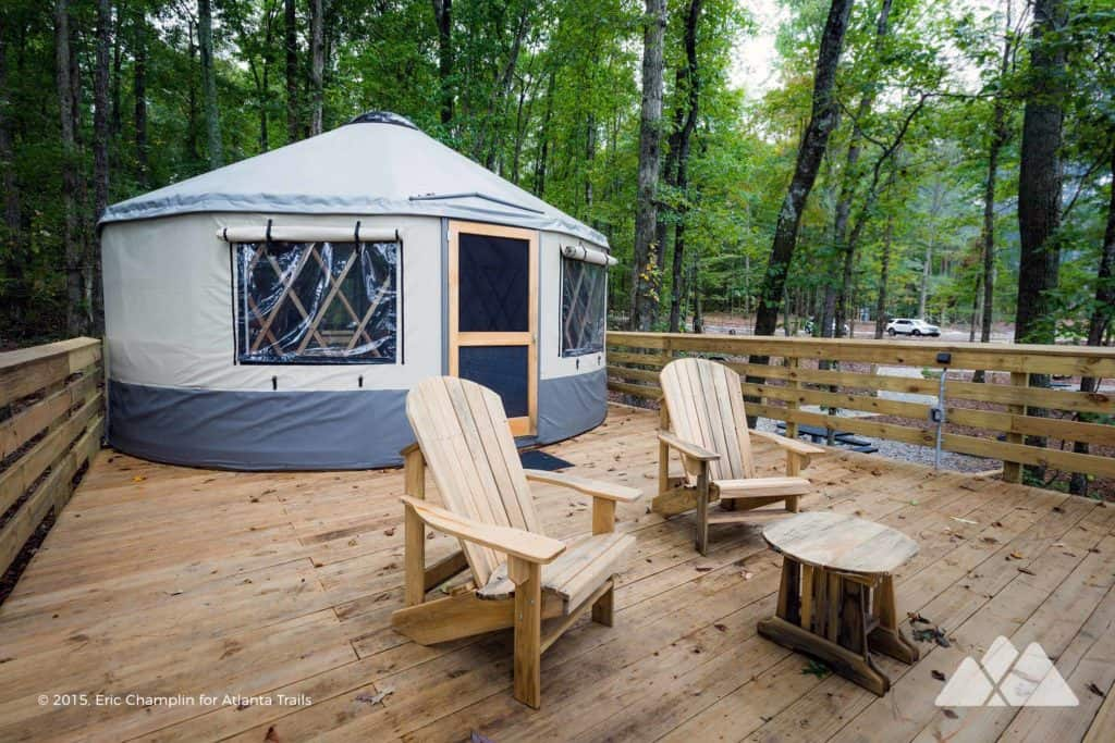 Sweetwater Creek State Park Yurt Camping near Atlanta