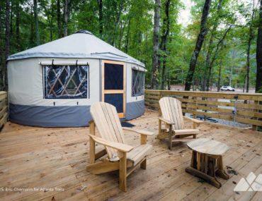 Sweetwater Creek State Park Yurt Camping near Atlanta