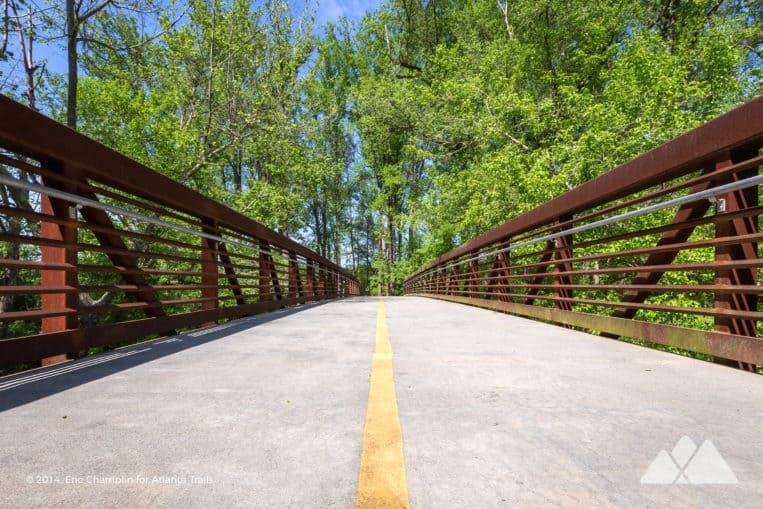 Top Atlanta running spots: run through the scenic Tanyard Creek Park on the Northside BeltLine Trail