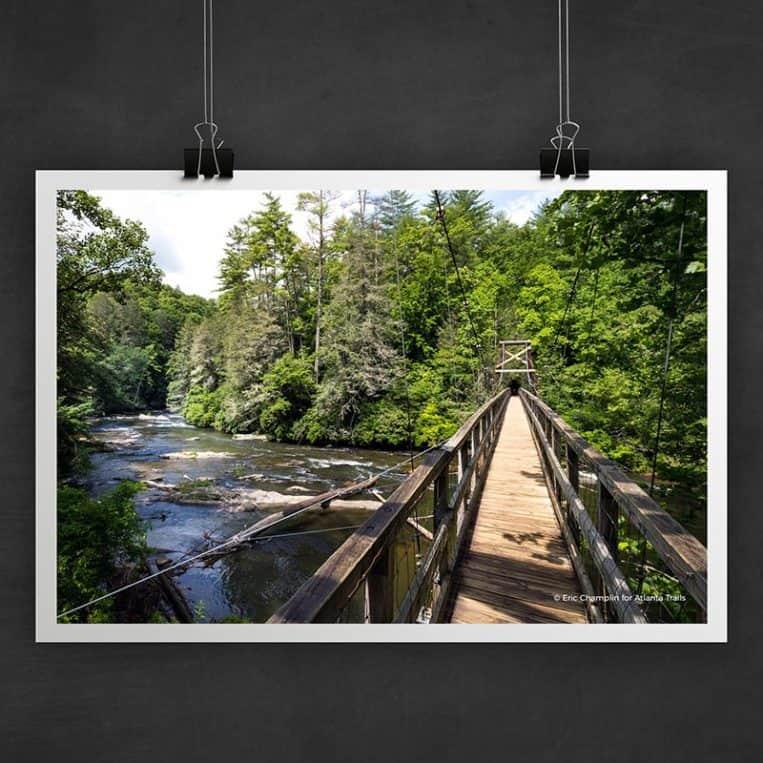 Atlanta Trails Toccoa River Swinging Bridge Photo Art Print
