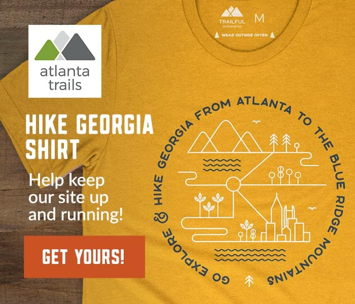 Atlanta Trails Go Explore & Hike Georgia Shirt - Mustard