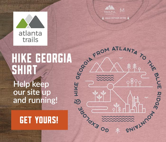 Atlanta Trails Go Explore & Hike Georgia Shirt - Orchid